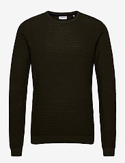 Lindbergh - Structure knit - perusneuleet - dk army - 0