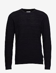 Lindbergh - Structure knit - perusneuleet - navy mel - 1