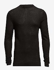 Lindbergh - Merino knit o-neck - perusneuleet - black - 0