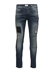 Slim fit jeans - cracked blue - CRACKED BLUE