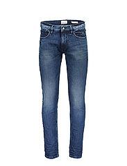 5-pocket stretch - harsh blue - HARSH BLUE