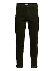 Corduroy slim fit pants - ARMY