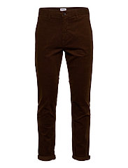 Corduroy slim fit pants - BROWN