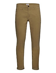 Corduroy slim fit pants - SAND