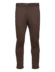 Superflex knitted cropped pant - BROWN MIX
