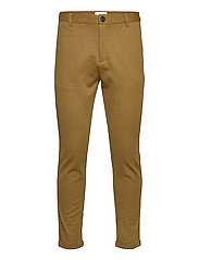 Superflex knitted cropped pant - CAMEL MIX