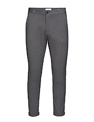 Knitted cropped pants - GREY MIX