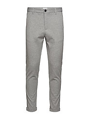 Superflex knitted cropped pant - LT GREY MIX