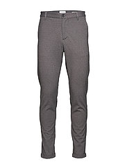 Knitted pants normal length - GREY MIX