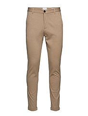 Knitted pants normal length - LT SAND MIX