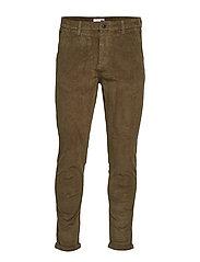 Cropped corduroy pants - ARMY