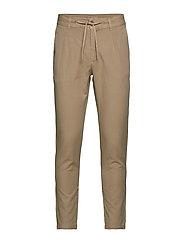 Club pants cotton linen - BEIGE