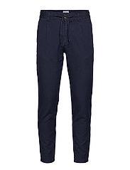 Club pants cotton linen - DK BLUE