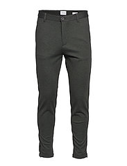 Cropped pants - knitted - ARMY MIX
