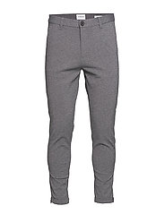 Cropped pants - knitted - GREY MIX