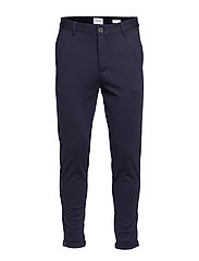 Cropped pants - knitted - NAVY