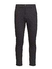 Chino pants with elastic waist - BLACK MIX