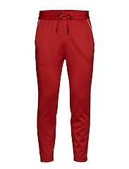 Track pants w. piping - RED
