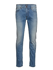 Tapered fit jeans bleached - BLEACHED BLUE