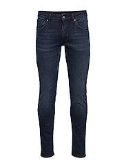 Tapered Fit Jeans Dark Rinse Skinny Jeans Blå LINDBERGH