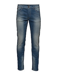 Tapered fit jeans light ink wa - LIGHT INK WASH