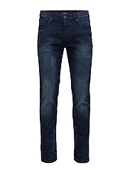 Tapered fit jeans grinded blue - GRINDED BL
