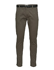 Classic stretch chino W. belt - DK ARMY