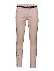 Classic stretch chino W.belt - DUSTY PINK