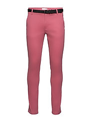 Classic stretch chino W. belt - ROSE