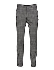 Checked stretch pants - GREY