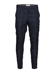Checked suit pants - BLUE CHECKED