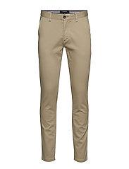 Stretch cotton structure pants - SAND