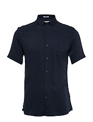 Viscose shirt S/S - DARK BLUE