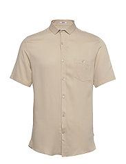 Viscose shirt S/S - LIGHT SAND