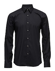Men's Stretch Shirt L/S - BLACK
