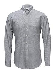 Mouliné check shirt L/S - BLUE