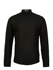 Mouliné stretch shirt L/S - ARMY