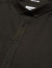 Lindbergh - Mouliné stretch shirt L/S - basic shirts - army - 3