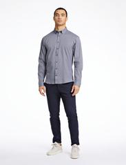 Lindbergh - Mouliné stretch shirt L/S - peruspaitoja - black - 0
