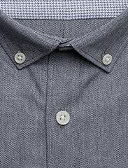 Lindbergh - Mouliné stretch shirt L/S - peruspaitoja - black - 3