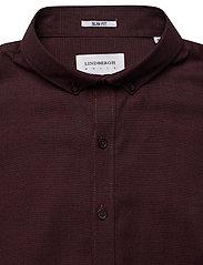 Lindbergh - Mouliné stretch shirt L/S - peruspaitoja - lt bordeaux - 3