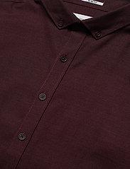 Lindbergh - Mouliné stretch shirt L/S - peruspaitoja - lt bordeaux - 4