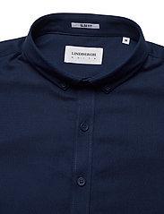 Lindbergh - Mouliné stretch shirt L/S - peruspaitoja - navy - 2