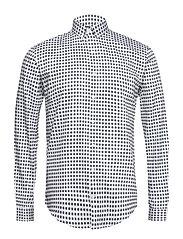 Small print shirt L/S - NAVY