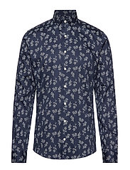 Printed shirt L/S - NAVY