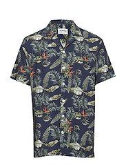 Resort printed shirt S/S - DARK BLUE