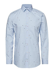 Printed shirt L/S - LIGHT BLUE