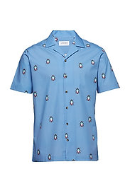 Printed resort shirt S/S - BLUE