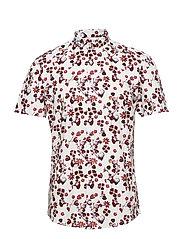 Printed shirt S/S - DARK RED