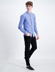 Lindbergh - Linen shirt L/S - puuvillapaidat - blue - 0